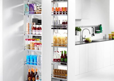 kitchen fitting birmingham | tall larder unit pull-out